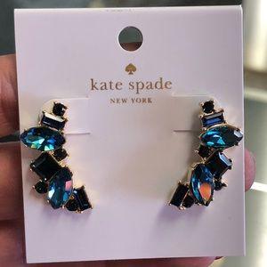 Kate Spade Oceanic Blue Ear Climber Earrings